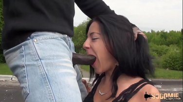 Big black tower in her tight big ass