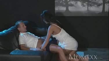 Little tits Kenzie Reeves gets attacked by a criminal in the mask