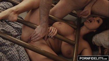 Busty MILF seduces her daughter Dillion Harper and her boyfriend